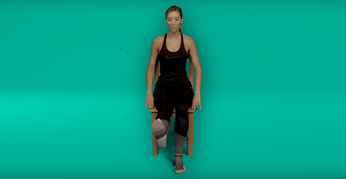 Knee replacement recovery exercises - knee flexion/extension sitting