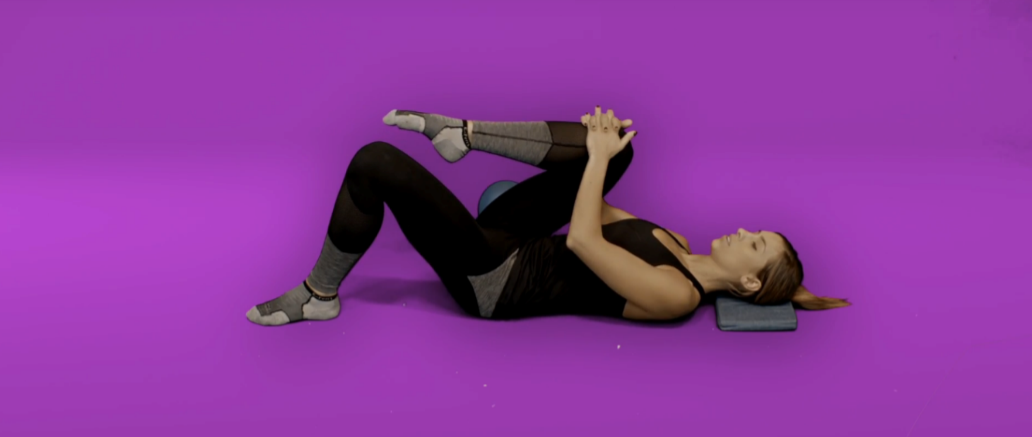 Hip pain exercises - single leg knee hugs