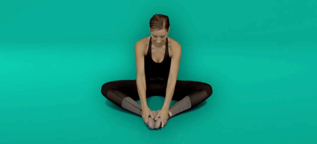 Hip pain exercises - inner thigh stretch