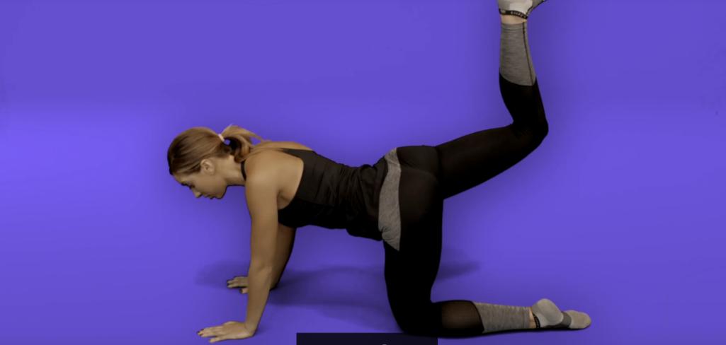 Hip pain exercises - donkey kick