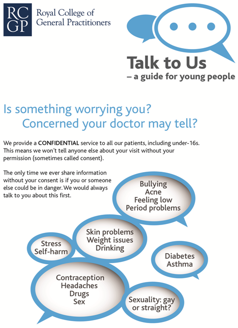 RCGP young people's leaflet page 1